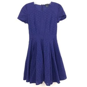 French Connection purple eyelet lace dress 365